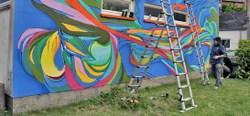 Jean-Luc Moerman a commencé sa fresque - PRIZME