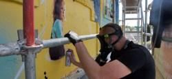 Samuel Idmtal et Orlando Kintero ont commencé leur fresque - PRIZME
