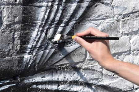 Le mur d'Agro-Bio Tech, rue Sigebert (Noir Artist)